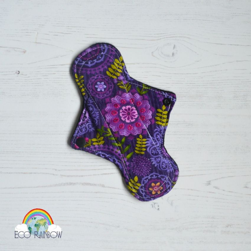 "8"" Regular Cotton Purple Mandala Flower"